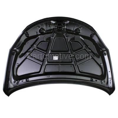 Aftermarket Replacement - HDD-1655 2010-2013 Suzuki Kizashi (Base, GTS, S, SE, SLS, Sport, SX) Sedan 4-Door (2.4 Liter Engine) Front Hood Panel Assembly Primed Steel - Image 3