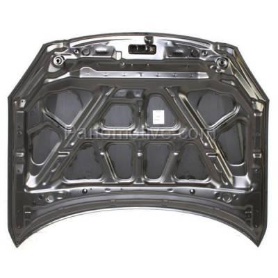 Aftermarket Replacement - HDD-1564 2002-2004 Nissan Altima (Base, S, SE, SL) Sedan 4-Door (2.5 & 3.5 Liter Engine) Front Hood Panel Assembly Primed Aluminum - Image 2