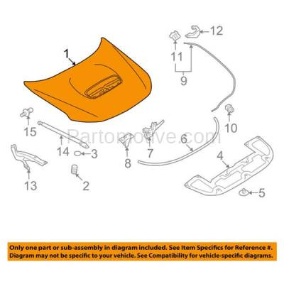 Aftermarket Replacement - HDD-1633 2009-2013 Subaru Forester XT (Limited, Premium, Touring) Wagon 4-Door (2.5 Liter H4 Turbocharged Engine) Front Hood Panel Assembly Primed Steel - Image 3