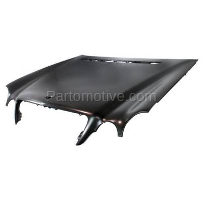 Aftermarket Replacement - HDD-1504 2000-2003 Mercedes-Benz E-Class E320/E430/E55 AMG/E500 (Sedan & Wagon 4-Door) (210 Chassis) Front Hood Panel Assembly Primed Steel - Image 2