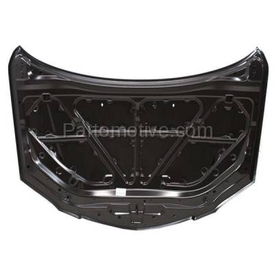 Aftermarket Replacement - HDD-1482 2004-2009 Mazda 5 (GS, GT, GX, i, S, SP23) Sedan 4-Door (2.0 & 2.3 Liter Engine) Front Hood Panel Assembly Primed Steel - Image 3