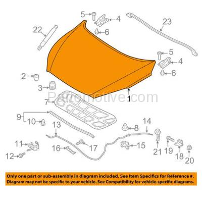 Aftermarket Replacement - HDD-1454 2016-2018 Lexus Sorento (L, Limited, LX, SX, SX Limited, SXL) Sport Utility (2.0 & 2.4 & 3.3 Liter Engine) Front Hood Panel Assembly Primed Steel - Image 3