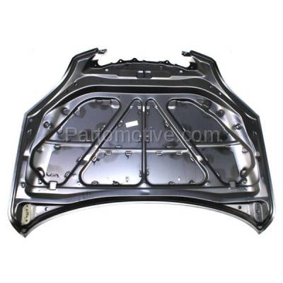 Aftermarket Replacement - HDD-1483 2004-2009 Mazda 3 (GT, S, SP23) 2.3 Liter Engine (Hatchback 4-Door) (without Turbo) Front Hood Panel Assembly Primed Steel - Image 3