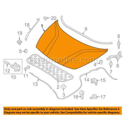 Aftermarket Replacement - HDD-1451 2012-2017 Kia Rio (EX, LX, LX+, SX) 1.6 Liter Engine (Hatchback & Sedan 4-Door) Front Hood Panel Assembly Primed Steel - Image 3