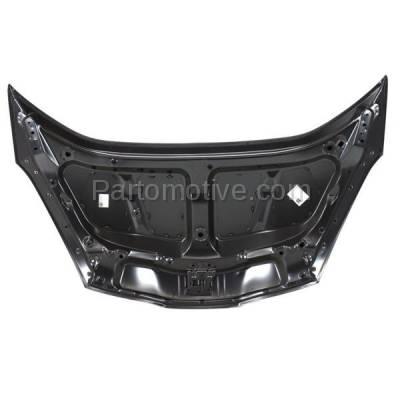Aftermarket Replacement - HDD-1363 2009-2014 Honda FIT (Base, DX, DX-A, EV, LX, Sport) Hatchback 4-Door (1.5 Liter Engine) Front Hood Panel Assembly Primed Steel - Image 2