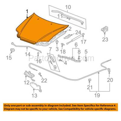 Aftermarket Replacement - HDD-1340 1998-2002 Honda Accord (EX, LX, SE) Coupe 2-Door (2.3 & 3.0 Liter Engine) Front Hood Panel Assembly Primed Steel - Image 3