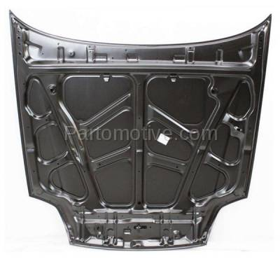 Aftermarket Replacement - HDD-1342 1997-2001 Honda Prelude (Base, Type SH) Coupe 2-Door (2.2 Liter Engine) Front Hood Panel Assembly Primed Steel - Image 3