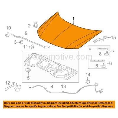 Aftermarket Replacement - HDD-1369 2012-2013 Honda Civic (DX, EX, EX-L, GX, HF, Hybrid, Hybrid-L, LX, Si, Si HFP) (Coupe & Sedan) Front Hood Panel Assembly Primed Steel - Image 3