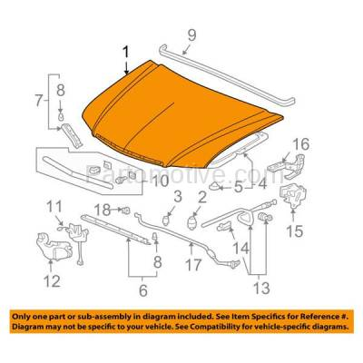 Aftermarket Replacement - HDD-1007 2006-2008 Acura TSX (Sedan 4-Door) 2.4L Front Hood Panel Assembly Primed Steel - Image 3