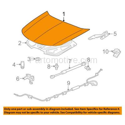 Aftermarket Replacement - HDD-1008 2009-2014 Acura TL (Sedan 4-Door) Front Hood Panel Assembly Primed Aluminum - Image 3