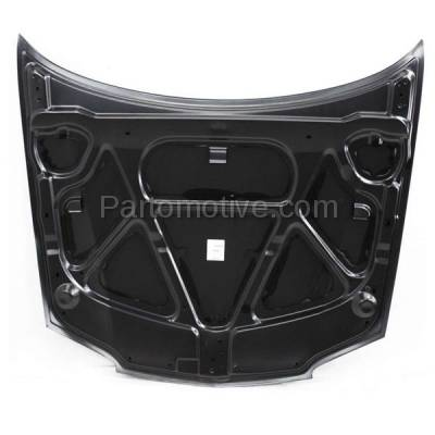 Aftermarket Replacement - HDD-1260 2003-2005 Chevy Cavalier (Base, LS) 2.2L (Coupe & Sedan) Front Hood Panel Assembly Primed Steel - Image 2