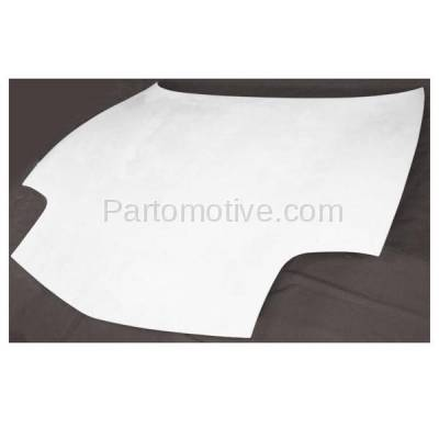 Aftermarket Replacement - HDD-1241 1997-2004 Chevy Corvette (Base, Indianapolis 500 Pace Car, Z06) 5.7L (Convertible, Coupe, Hatchback) Front Hood Panel Primed Fiberglass - Image 2
