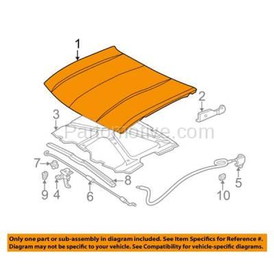 Aftermarket Replacement - HDD-1243 2002-2009 Chevrolet Trailblazer & 2002-2006 Chevy Trailblazer EXT (Base, LS, LT, LTZ, North Face, SS) V6/V8 Front Hood Panel Assembly Primed Steel - Image 3