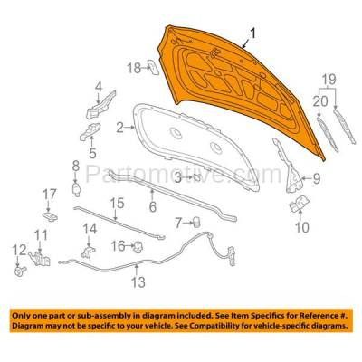 Aftermarket Replacement - HDD-1316 2012-2017 Buick Verano (Base, Convenience, CX, CXL, Leather, Premium, Sport Touring, Tela, Turbo) Sedan Front Hood Panel Assembly Primed Steel - Image 3