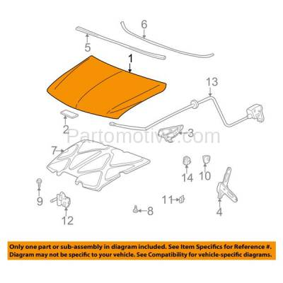 Aftermarket Replacement - HDD-1247 2002-2006 Chevrolet Avalanche 1500 (Crew Cab Pickup 4-Door) Front Hood Panel Assembly Primed SteelModels with Body Cladding - Image 3