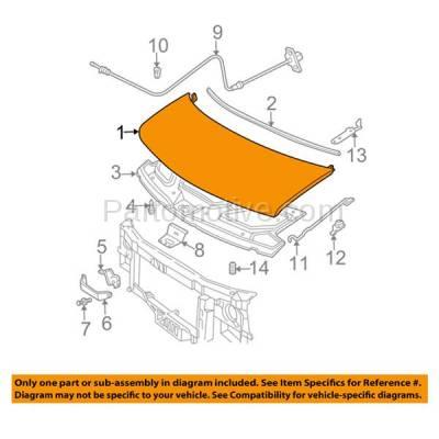 Aftermarket Replacement - HDD-1271 2003-2018 Chevrolet Express & GMC Savana (Standard & Extended Cargo/Passenger Van) Front Hood Panel Assembly Primed Steel - Image 3