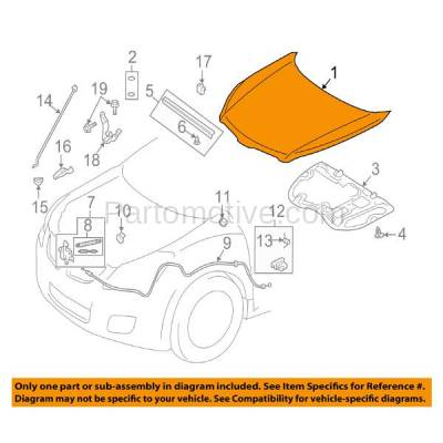 Aftermarket Replacement - HDD-1300 2009-2010 Pontiac Vibe (AWD, Base, GT) Wagon 4-Door (1.8 & 2.4 Liter Engine) Front Hood Panel Assembly Primed Steel - Image 3