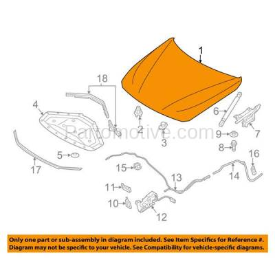 Aftermarket Replacement - HDD-1066 2012-2018 BMW 3-Series (Sedan/Wagon) & 2014-2018 4-Series (Coupe/Convertible/Hatchback) Front Hood Panel Assembly Primed Steel - Image 3