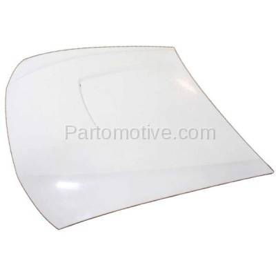 Aftermarket Replacement - HDD-1159 2003-2004 Ford Mustang (Convertible & Coupe 2-Door) 3.8L & 3.9L V6 (with Rear Scoop) Front Hood Panel Assembly Gelcoat Fiberglass - Image 2