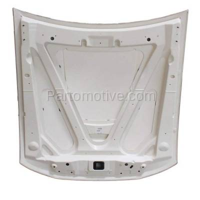 Aftermarket Replacement - HDD-1159 2003-2004 Ford Mustang (Convertible & Coupe 2-Door) 3.8L & 3.9L V6 (with Rear Scoop) Front Hood Panel Assembly Gelcoat Fiberglass - Image 3