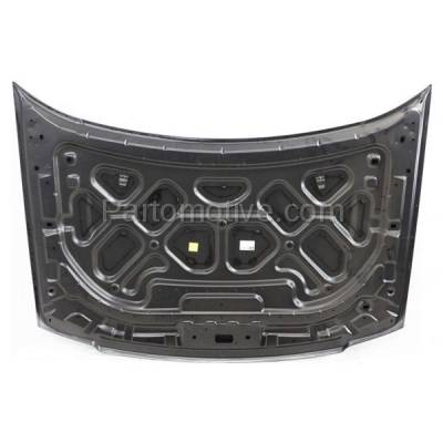 Aftermarket Replacement - HDD-1190 2005-2007 Ford Freestyle (Limited, SE, SEL) 3.0 Liter V6 Engine (Wagon 4-Door) Front Hood Panel Assembly Primed Aluminum - Image 3
