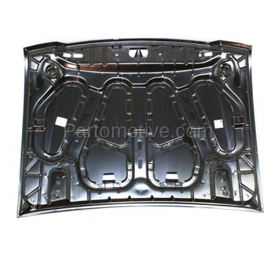 Aftermarket Replacement - HDD-1189 2004-2011 Ford Ranger Pickup Truck (Standard, Extended, Crew Cab) 2WD & 4WD Front Hood Panel Assembly Primed Steel - Image 3