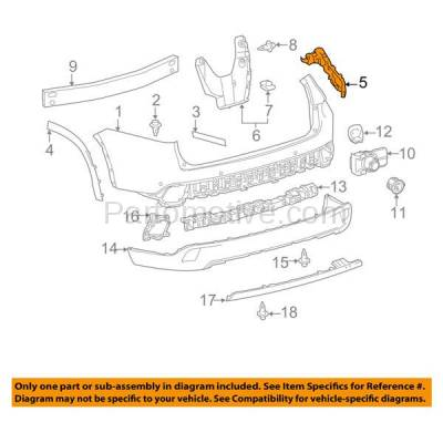 Aftermarket Replacement - BRT-1179RL & BRT-1179RR 2014-2019 Toyota Highlander Rear Bumper Cover Mounting Reinforcement Support Bracket Plastic SET PAIR Right & Left Side - Image 3