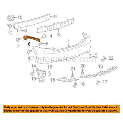 Aftermarket Replacement - BRT-1178RL & BRT-1178RR 10-15 Prius & Prius Plug-In Rear Bumper Cover Face Bar Retainer Mounting Reinforcement Brace Support Bracket PAIR SET Right Passenger & Left Driver Side - Image 3