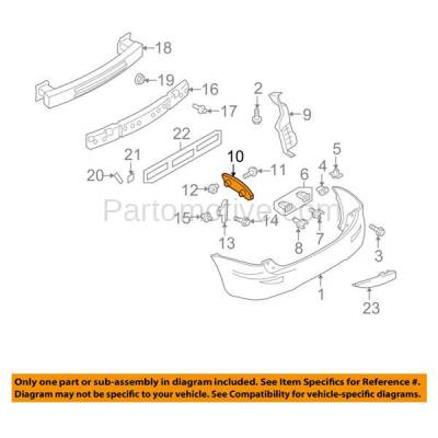 Aftermarket Replacement - BRT-1093RL & BRT-1093RR 06-10 Mazda 5 Rear Bumper Cover Face Bar Retainer Mounting Brace Reinforcement Support Bracket Plastic Right Passenger & Left Driver Side - Image 3