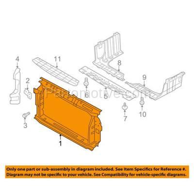 Aftermarket Replacement - RSP-1387 2012-2014 Hyundai Accent (GL, GLS, GS, L, SE) Hatchback & Sedan (1.6L) Front Radiator Support Core Assembly Primed Steel - Image 3