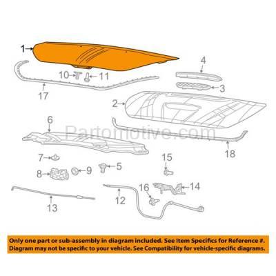 Aftermarket Replacement - HDD-1130 2013-2016 Dodge Dart (Aero, GT, Limited, SE, SXT) Sedan 4-Door (Models without Hood Scoop) Front Hood Panel Assembly Primed Aluminum - Image 3