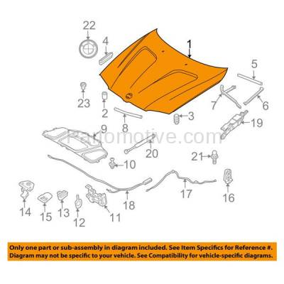 Aftermarket Replacement - HDD-1053 2004-2010 BMW X3 (2.5i, 3.0i, 3.0si, xDrive28i, xDrive30i) E83 Front Hood Panel Assembly Primed Steel - Image 3