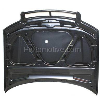 Aftermarket Replacement - HDD-1022 2002-2005 Audi A4/A4 Quattro/S4 (Sedan & Wagon 4-Door) Front Hood Panel Assembly Primed Steel - Image 2