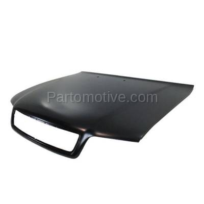 Aftermarket Replacement - HDD-1018 1996-1999 Audi A4 & A4 Quattro (Sedan & Wagon 4-Door) Front Hood Panel Assembly Primed Steel - Image 2