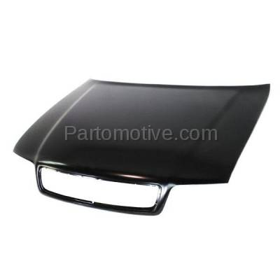 Aftermarket Replacement - HDD-1020 1999-2002 Audi A4/A4 Quattro & 2000-2002 S4 (Sedan & Wagon 4-Door) Front Hood Panel Assembly Primed Steel - Image 2