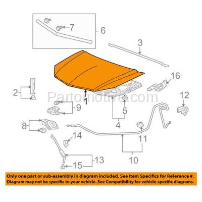 Aftermarket Replacement - HDD-1011 2010-2012 Acura RDX 2.3L Front Hood Panel Assembly Primed Steel - Image 3
