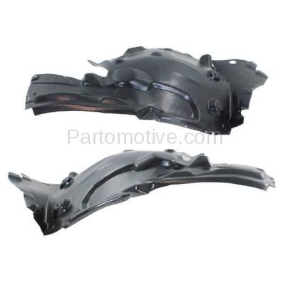 Aftermarket Replacement - IFD-1074L & IFD-1074R 11-16 5-Series Front Splash Shield Inner Fender Liner Panel Left Right SET PAIR - Image 1