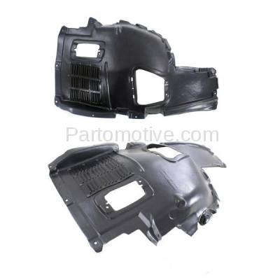 Aftermarket Replacement - IFD-1065L & IFD-1065R 10-17 5-Series Front Upper Splash Shield Inner Fender Liner Left Right SET PAIR - Image 2