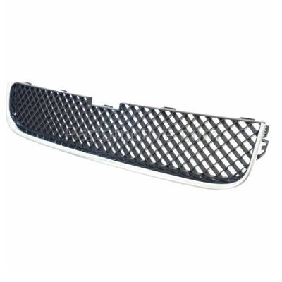 Aftermarket Replacement - GRL-1724C CAPA 05-09 Chevy Uplander Van Front Lower Grill Grille GM1200574 15108613 - Image 2