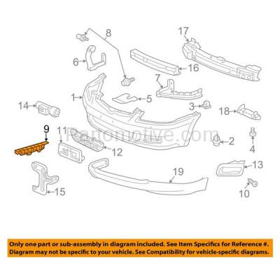 Aftermarket Replacement - BRT-1051FL & BRT-1051FR 06-07 Accord Front Bumper Cover Face Bar Spacer Retainer Mounting Brace Reinforcement Support Plastic SET PAIR Right Passenger & Left Driver Side - Image 3