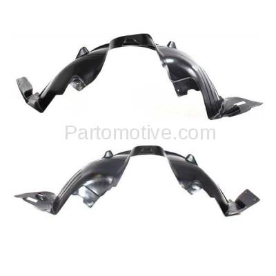 Aftermarket Replacement - IFD-1112L & IFD-1112R 04-06 X3 Front Splash Shield Inner Fender Liner Panel Left & Right Side SET PAIR - Image 2