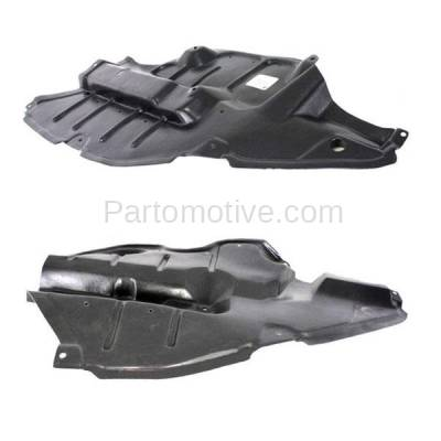 Aftermarket Replacement - ESS-1614L & ESS-1614R 2009-2016 Toyota Venza Front (Front Section) Engine Under Cover Splash Shield Plastic Right Passenger & Left Driver Side SET PAIR - Image 1