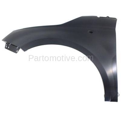 Aftermarket Replacement - FDR-1304L 2012-2019 Fiat 500 (1.4L Engine & Electric) (USA Type) Front Fender Quarter Panel (without Molding Holes) Primed Steel Left Driver Side - Image 1
