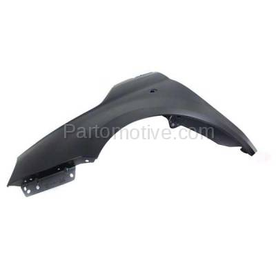 Aftermarket Replacement - FDR-1304L 2012-2019 Fiat 500 (1.4L Engine & Electric) (USA Type) Front Fender Quarter Panel (without Molding Holes) Primed Steel Left Driver Side - Image 3