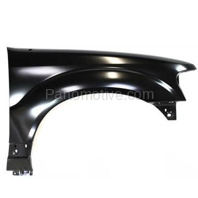 Aftermarket Replacement - FDR-1274R 2001-2003 Ford Explorer & 2001-2005 Explorer Sport Trac Front Fender Quarter Panel without Molding Holes Right Passenger Side - Image 1