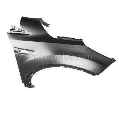 Aftermarket Replacement - FDR-1263R 2013-2019 Ford Escape (1.5L & 1.6L & 2.0L & 2.5L) Front Fender Quarter Panel (without Molding Holes Primed Steel Right Passenger Side - Image 2