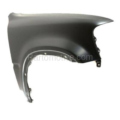 Aftermarket Replacement - FDR-1188R 1997-2001 Honda CR-V (2.0L) Front Fender Quarter Panel without Side Light Holes (with Molding Holes) Primed Steel Right Passenger Side - Image 2