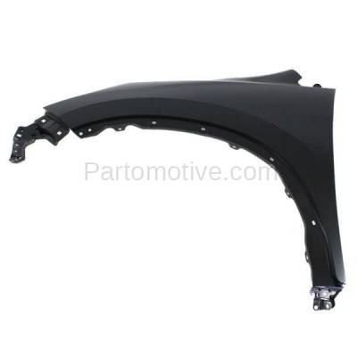 Aftermarket Replacement - FDR-1187L 2012-2016 Honda CR-V (2.4 Liter Engine) Front Fender Quarter Panel (without Molding Holes) Primed Steel Left Driver Side - Image 1