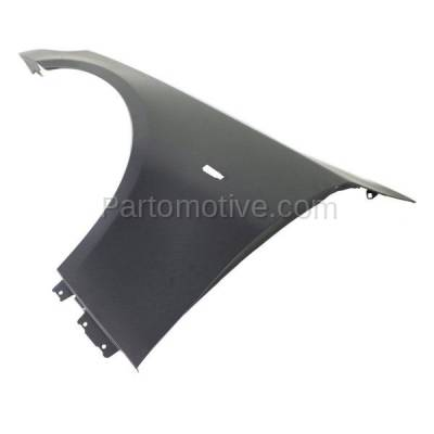 Aftermarket Replacement - FDR-1024L 2004-2010 BMW 5-Series (Sedan & Wagon) Front Fender Quarter Panel (without Molding Holes) Primed Steel Left Driver Side - Image 2