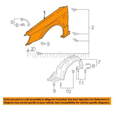 Aftermarket Replacement - FDR-1431L 00-04 Legacy Front Fender Quarter Panel Left Driver Side LH SU1240118 57120AE05A - Image 3